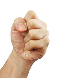A clenched fist. Against a white background for easy extraction Stock Photos