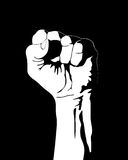 Clenched fist. Symbol of people fight for rights Royalty Free Stock Image