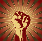 Clenched fist Royalty Free Stock Photography