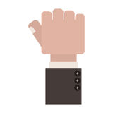 Clenched fist with finger thumb. Vector illustration Royalty Free Stock Photos