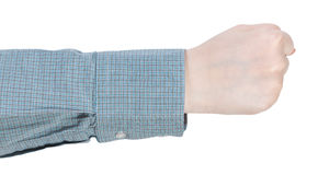 Clenched fist - hand gesture Royalty Free Stock Image