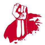 Clenched fist hand . Victory, revolt concept. Revolution, solidarity vector illustration