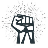 A Clenched Fist Held High In Protest. Stock Photography