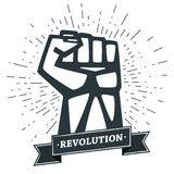 A Clenched Fist Held High In Protest. Royalty Free Stock Photography