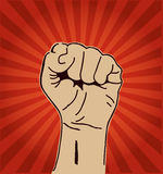 Clenched fist held high Royalty Free Stock Images