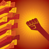 Clenched fist held in protest concept Royalty Free Stock Photos