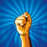 Clenched fist held in protest vector illustration. Stock Image