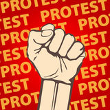 Clenched fist held in protest vector illustration. freedom Stock Photos