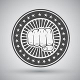 Clenched fist icon Stock Images