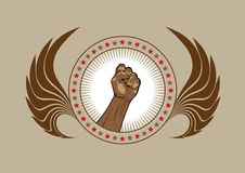 Clenched fist symbol or emblem Stock Photos