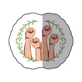 Clenched fist symbol Stock Photography