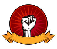 Clenched fist vector illustration Royalty Free Stock Photo