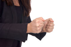 Clenched fists Royalty Free Stock Image