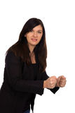 Clenched fists. Business woman with clenched fists Stock Image