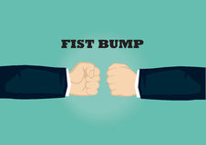 Clenched Fists of Businessman Vector Illustration for Fist Bump Royalty Free Stock Image