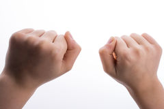 Clenched fists Royalty Free Stock Photography