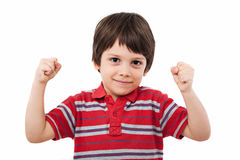 Clenched fists winning royalty free stock photo