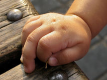 Clenched hand of young child closeup Royalty Free Stock Photos