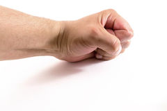 Clenched Male Human Fist Royalty Free Stock Photography
