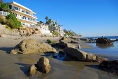 Cleo Street Beach Laguna Beach, Kalifornien Arkivfoto