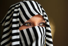 Cleopatra. Style arabic beautiful woman Royalty Free Stock Photo