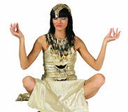Cleopatra. Ancient Egyptian woman - Cleopatra on isolated background stock photography