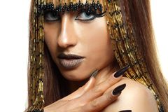 Cleopatra. Portrait of haughty egyptian woman in ancient style Royalty Free Stock Photo