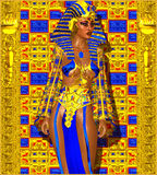 Cleopatra or any Egyptian Woman Pharaoh. Royalty Free Stock Image