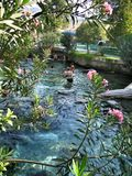 Cleopatra basen w Indyczym Pamukkale fotografia royalty free