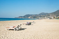 Cleopatra Beach (Kleopatra-Strand) in Alanya, Turkije Stock Afbeeldingen