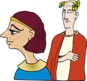 Cleopatra and Caesar. Illustration of Cleopatra and Caesar Stock Photography