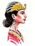 Cleopatra drottning royaltyfri illustrationer