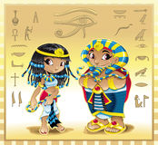 Cleopatra e Pharaoh royalty illustrazione gratis