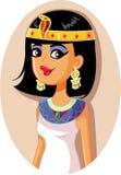 Cleopatra Egyptian Queen Vector Illustration Imagen de archivo libre de regalías