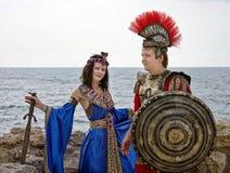Cleopatra en de ridder Royalty-vrije Stock Foto's