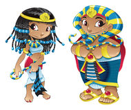 Cleopatra en Farao Stock Foto's