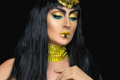 Cleopatra female posing in the studio Stock Photos