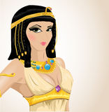 cleopatra illustrerade royaltyfri illustrationer