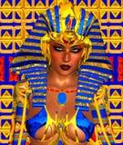 Cleopatra o cualquier faraón egipcio de la mujer Imagen de archivo libre de regalías