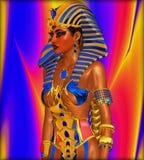 Cleopatra o cualquier faraón egipcio de la mujer Fotografía de archivo libre de regalías