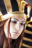 Cleopatra. queen of egypt. Portrait of cleopatra. queen of egypt royalty free stock photography