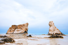 Cleopatra's beach famous rocks Royalty Free Stock Photo