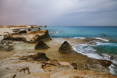 Cleopatra's beach lagoon near  Marsa Matruh, egypt Stock Photography