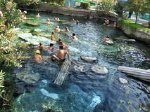 Cleopatras pool in Turkey Pamukkale Royalty Free Stock Images