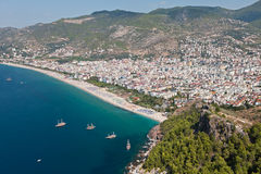 Cleopatra sand beach resort of Turkey Alanya Stock Image