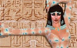 Cleopatra una versione digitale moderna di arte illustrazione di stock