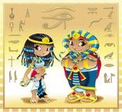Cleopatra y Pharaoh Fotografía de archivo