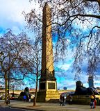 Cleopatras needle, London Royalty Free Stock Image