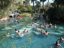 Cleopatraspool in Pamukkale Turkije Stock Foto