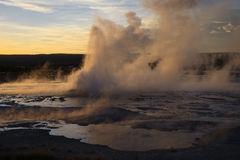 Clepsydra Geyser Stock Photo